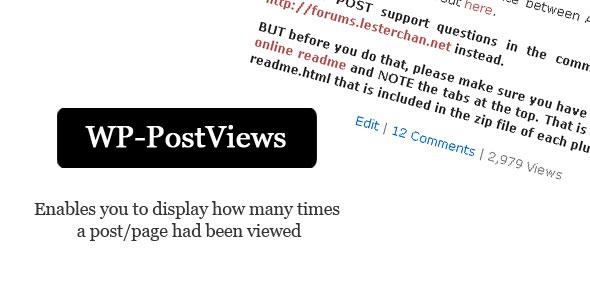 افزونه WP-PostViews و نمایش تعداد بازدیدکنندگان از مطالب