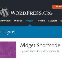 نحوه کار با افزونه ویجت شورت کد(widget shortcode)