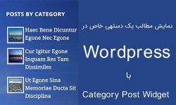 نمایش مطالب دسته ی خاص در وردپرس با افزونه Category Post Widget