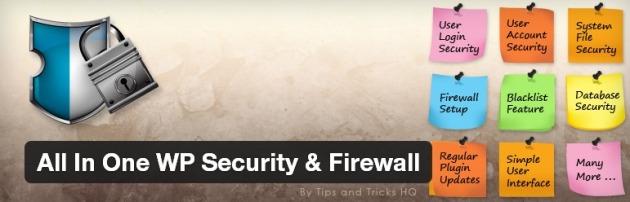 افزونه امنیتی All In One WP Security