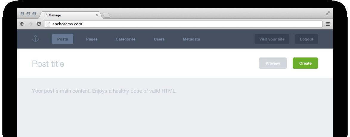 طراحی سایت php با سیستم مدیریت محتوا Anchor Cms