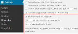 Break comments into pages in WordPress