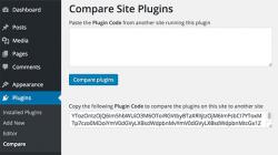 مقایسه ی افزونه های فعال بین دو وب سایت