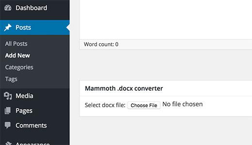 افزونه افزودن فایل ورد در وردپرس
