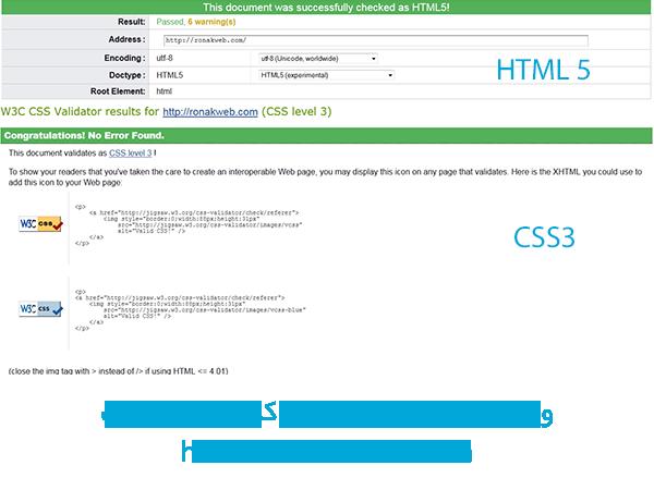 بهینه سازی کدنویسی html و css سایت w3c validation
