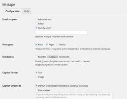 تنظیمات افزونه ی گزارش اشکالات در نوشته ها توسط کاربران
