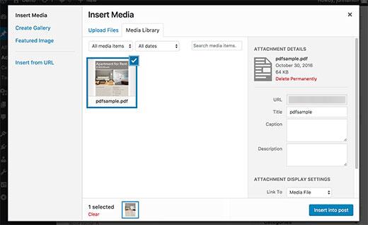 پیش نمایش PDF در وردپرس 4.7