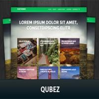 قالب وردپرس شرکتی Qubez فارسی + دانلود رایگان