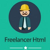 دانلود قالب html تک صفحه ای فارسی freelancer با طراحی واکنش گرا
