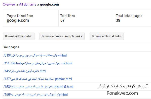 آموزش گرفتن بک لینک رایگان از گوگل