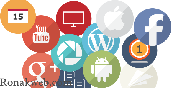دانلود آیکون فلت دایره ای برای طراحی رابط کاربری سایت