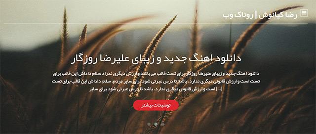 قالب وردپرس Subtler فارسی مناسب سایت شخصی