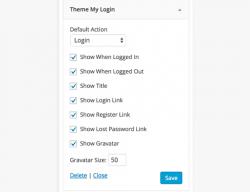 ابزارک ثبت نام و ورود به سایت وردپرس