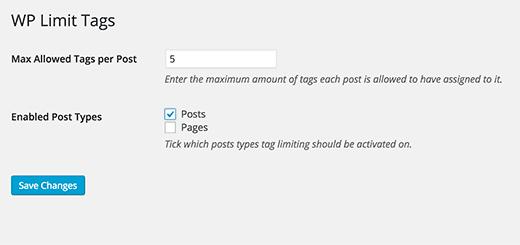 تنظیم نمودن حداکثر تعداد برچسب ها در نوشته